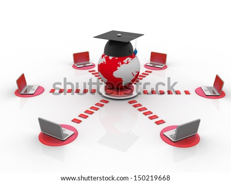 global computer education - stock photo