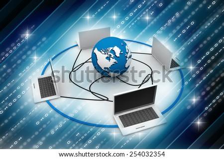 Global computer Network - stock photo