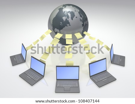 Global Computers Network 3D Files transfer and sharing with the world