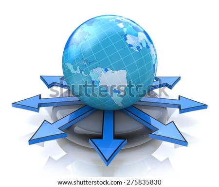 Global concept  - stock photo