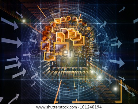 Global connections background suitable as a backdrop for projects on global communications, messaging, information sharing and modern technologies - stock photo