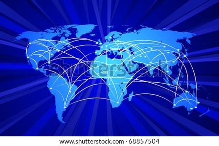 Global connections concept - stock photo