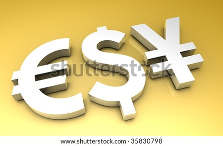 Global Currencies in 3d Premium Art Background