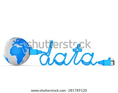 Global Data Indicating World Wide Web And Lan Network - stock photo