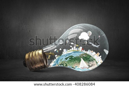 Global ecology concept - stock photo