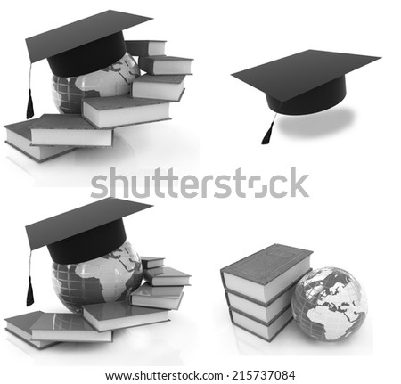 Global Education on a white background - stock photo