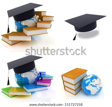 Global education set - stock photo