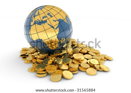 Global finance concept. Hi-res digitally generated image. - stock photo