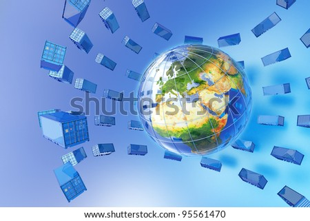 Global freight traffic - stock photo