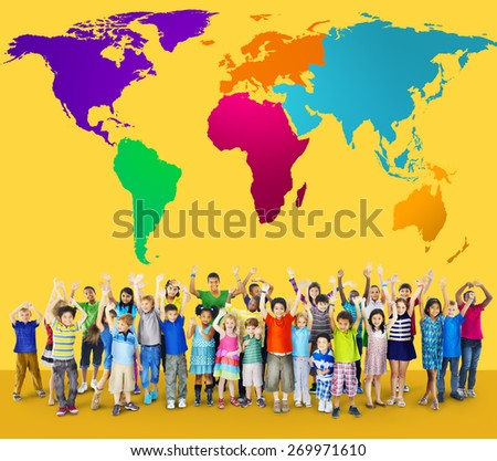 Global Globalization World Map Environmental Concservation Concept - stock photo