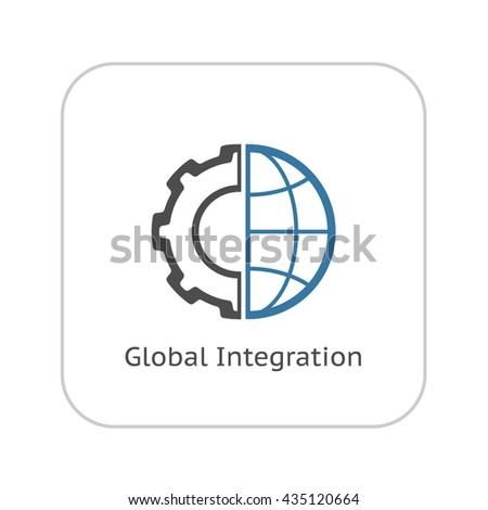 Industry 40 concept business control logo stock vector for Global design firm