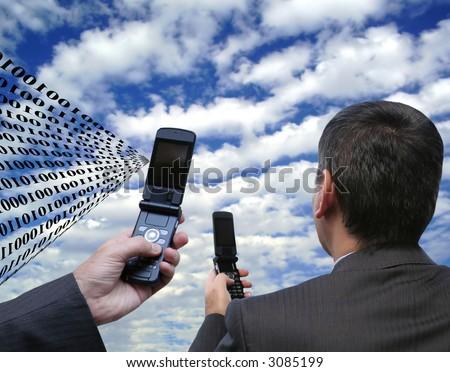 Global interaction - stock photo