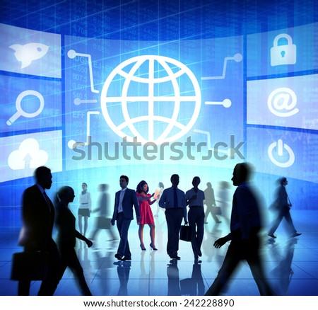 Global International Collaboration Team Teamwork Professional Concept - stock photo