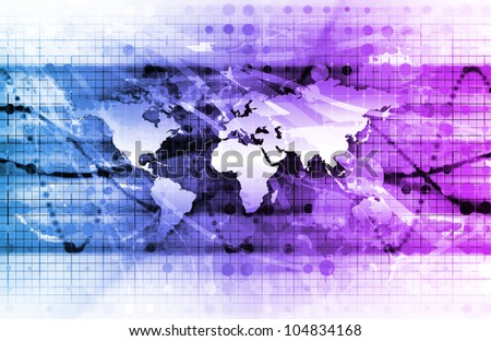 Global Management Technology Process as a Concept - stock photo