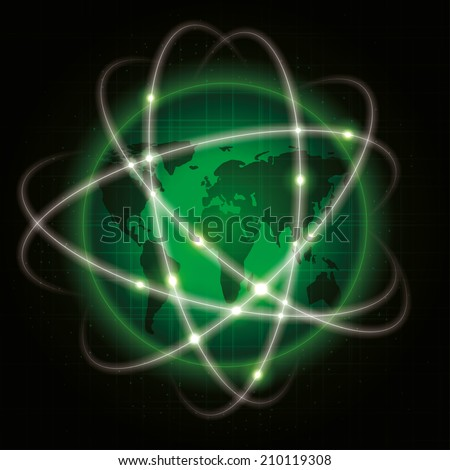 global network. abstract illustration. - stock photo