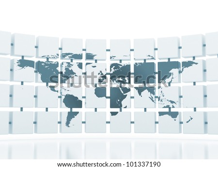 global network connected concept - stock photo