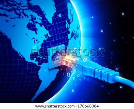 global network connection concept - stock photo
