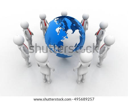 Global Network 3d illustration