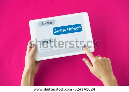 Global Network Internet Technology Concept