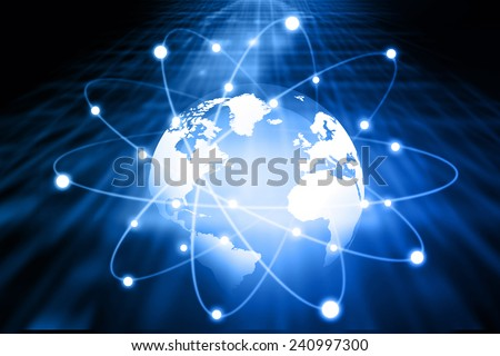 Global network of business 	 - stock photo