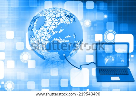 Global network on abstract background  - stock photo
