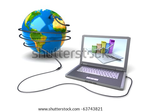 Global network the Internet - stock photo