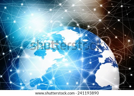 Global Networking Background - stock photo