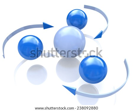 Global networking connection sphere concept  - stock photo