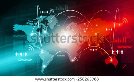Global networking of business  	 - stock photo