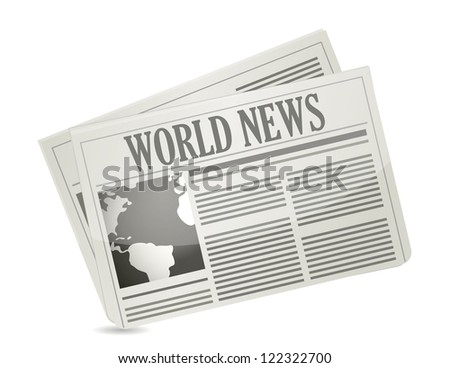 Global news concept illustration design over white