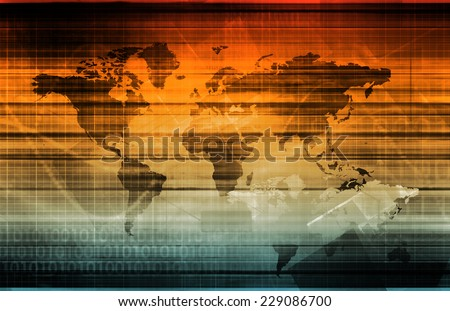 Global Partners and Globalization Partnership as Concept - stock photo
