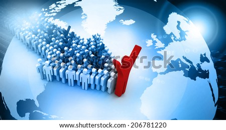 Global people leadership concept 	 - stock photo