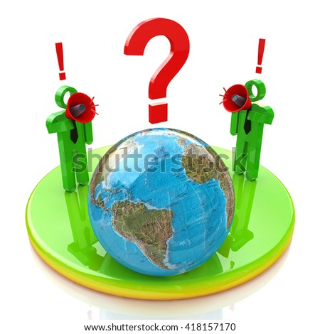 global perturbations in the design of information related to communication. 3d illustration - stock photo