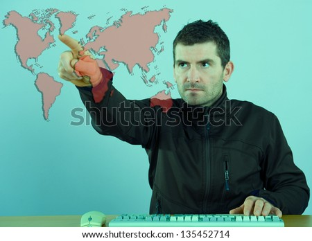 global-player - stock photo