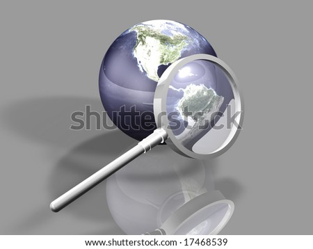 Global Search - stock photo