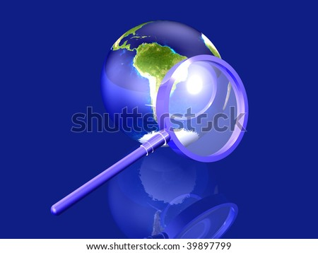 Global Search - South america - stock photo