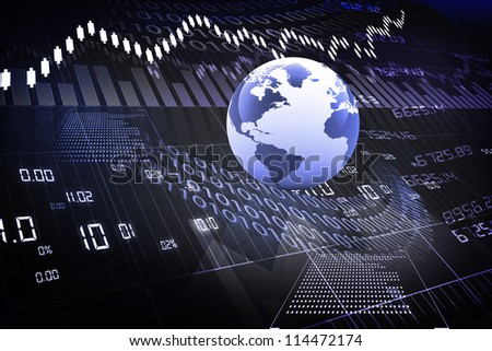 global stock market - stock photo