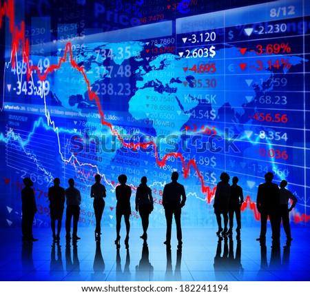 Global Stock Market Going Down - stock photo