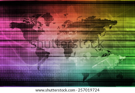 Global Strategy in a Business as a Concept - stock photo