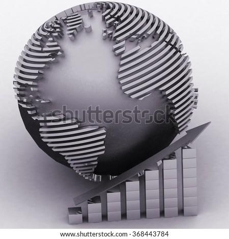 Global success concept - stock photo