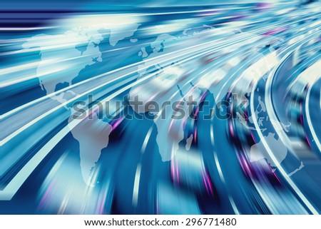 Global technology - stock photo