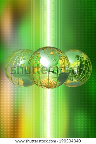 Global technology network concept - stock photo