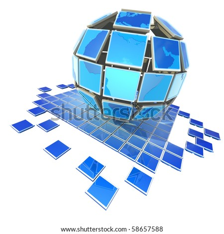Global television - stock photo