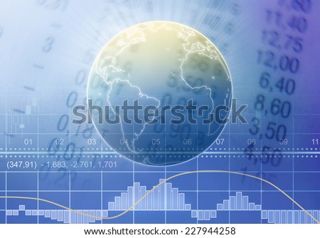 Global trading - stock photo