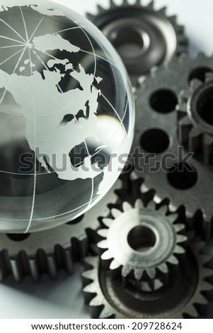 Global Unity. Engineering. - stock photo