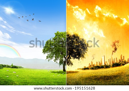 Global warming and pollution concept  - stock photo