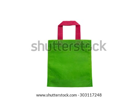 Global Warming Bag on white background.