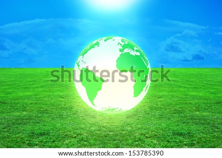 Global warming - 3d rendered illustration - stock photo