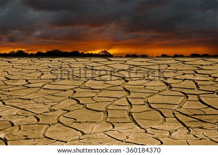 Global warming is a real threat for our civilization. Conceptual image symbolizing drastic changing in climate of our planet