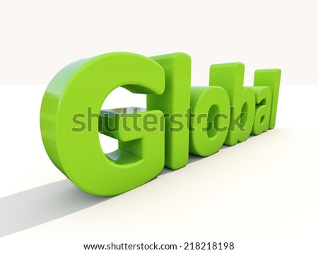 Global word on a white background